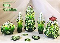 Большой свадебный набор красивого зеленого цвета