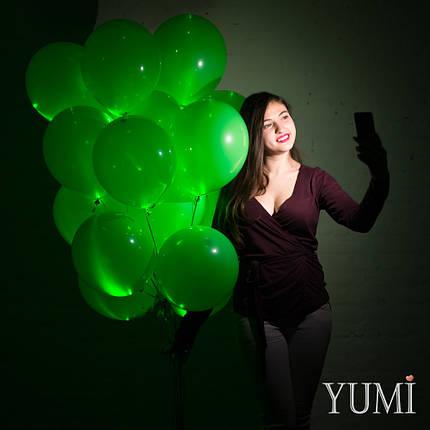 Связка из 20 зелёных светящихся шаров, фото 2