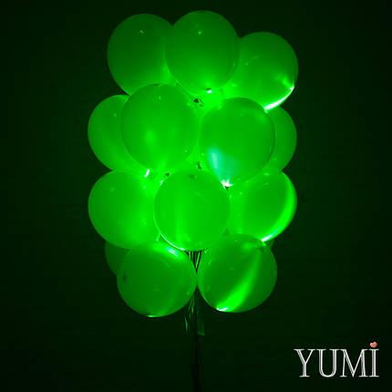 Композиция из 20 зелёных светящихся воздушных шаров, фото 2