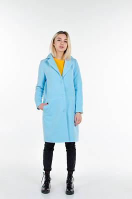 Пальто из кашемира на подкладке.Пальто подрезное по талии с карманами, косая шлица по спинке