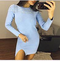 Женское платье с вышивкой из бисера в расцветках. ФК-2-0218