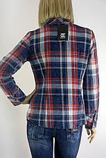 Жіноча сорочка в клітинку з бісером ,перлинками  Saloon, фото 3