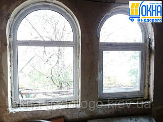 Арочные окна пластиковые