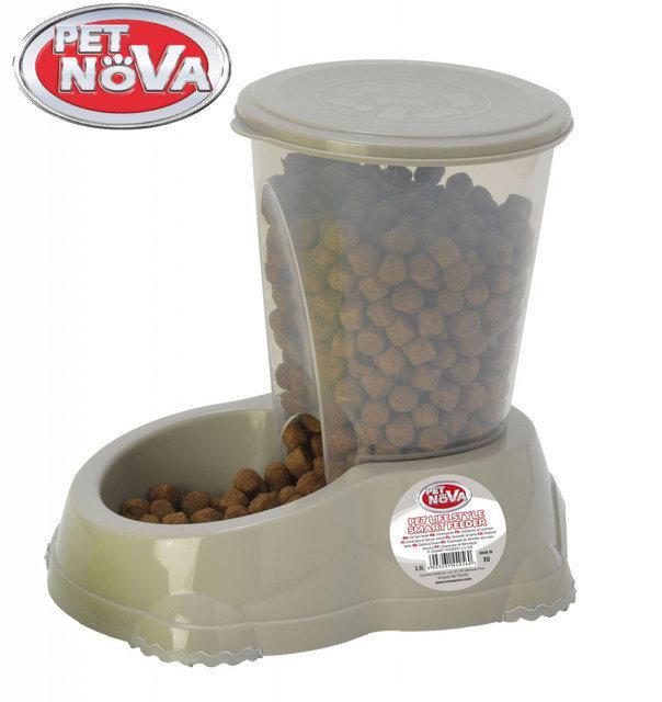 Кормушка Pet Nova 1.5л P-SMART-FEEDER-1,5-GR Серая