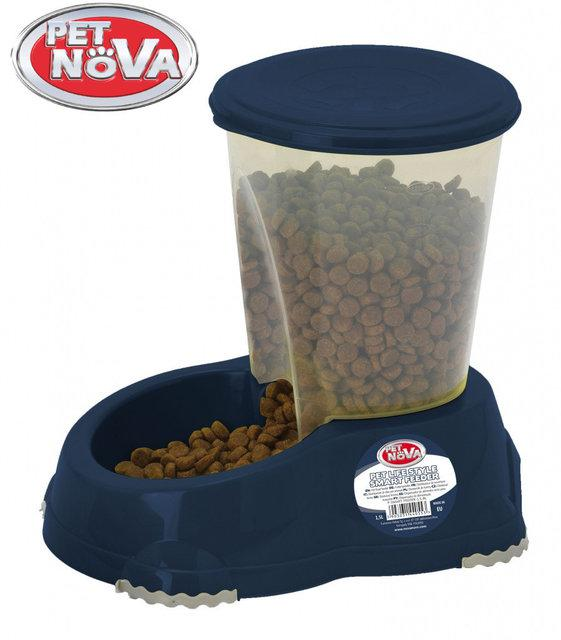 Кормушка Pet Nova 1.5л P-SMART-FEEDER-1,5-BL Синяя