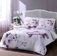 TAC Davina damson  сатин семейный комплект постельного белья
