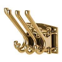 Шарнирный крюк IKEA KAMPIG 4 рычага желтая медь 303.471.32