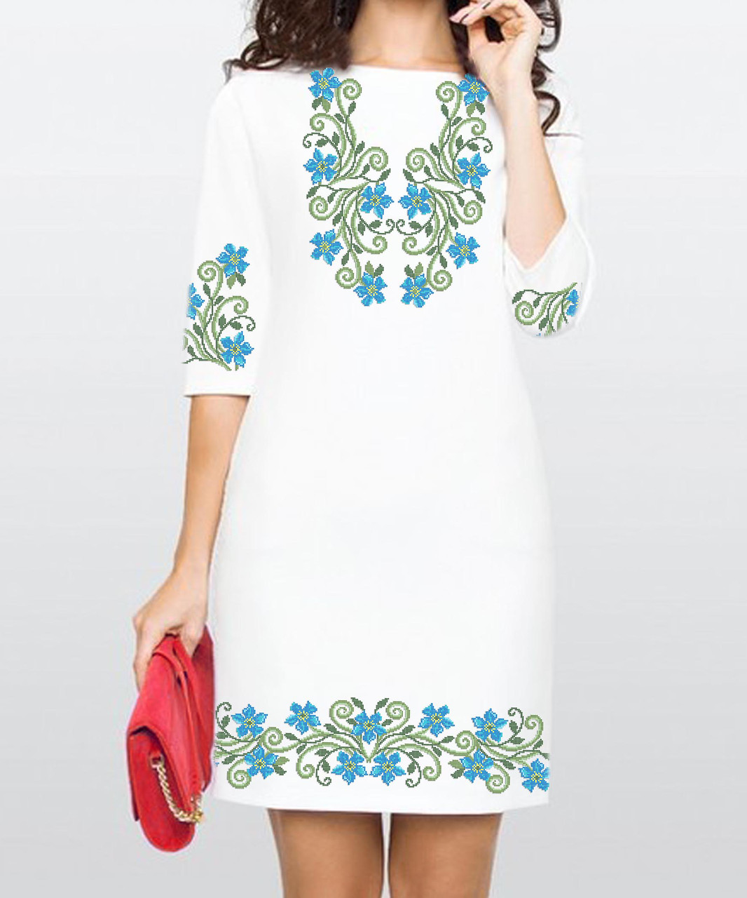 Заготовка жіночого плаття чи сукні для вишивки та вишивання бісером Бисерок  «Барвінок» (П d4107923e6202