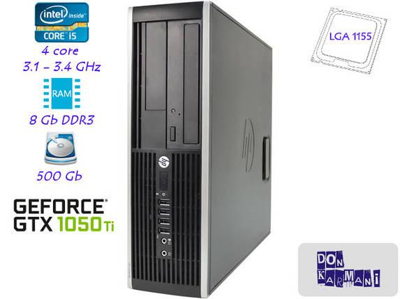 Компактный игровой компьютер 4-ядра 3.1GHz/DDR3-8GB/HDD-500Gb/Nvidia GTX1050Ti, фото 2