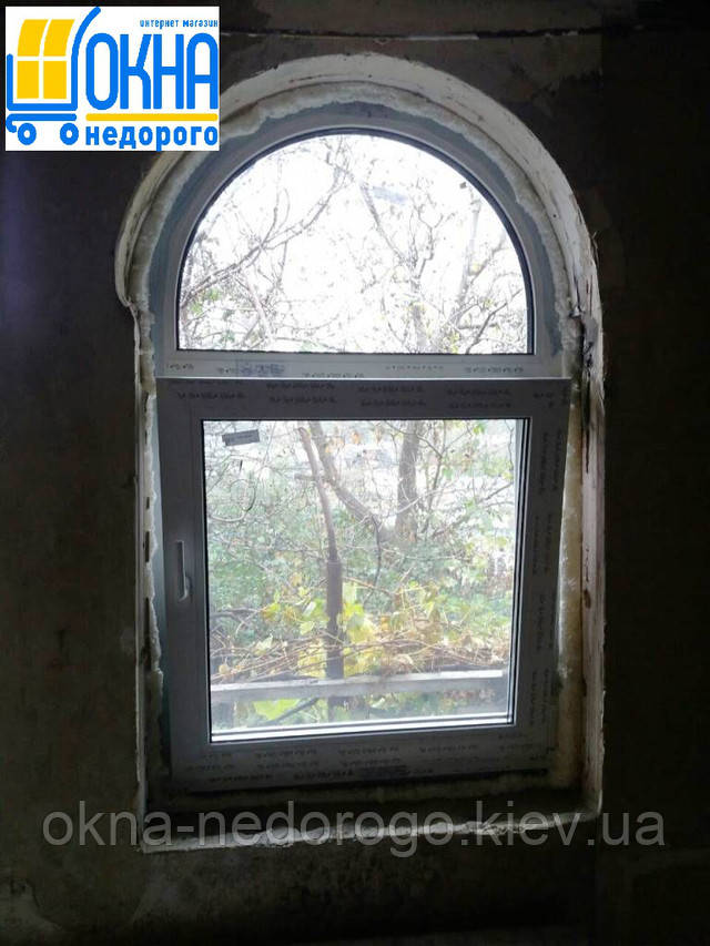 Арочные окна пластиковые Rehau