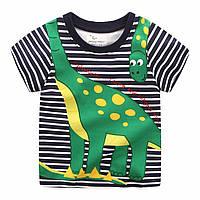 Футболка для мальчика «Динозаврик» синяя