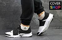 Кроссовки мужские Nike Air Presto, материал - текстиль, черно-белые