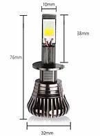 Светодиодные LED лампы головного света H1 White/Yellow COB 3600Lm 25Watt 6000K/4300K