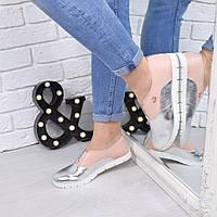 Туфли женские Lakosta (пудра+ серебро и черные)