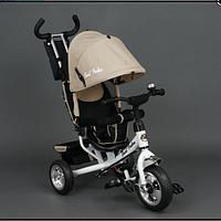 Детский трёхколёсный велосипед 6588 БЕЖЕВЫЙ