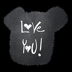 Доска меловая фигурная Собака ПХ 470х450 мм