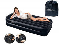 Надувной матрас кровать со встроенным электронасосом Bestway 67401