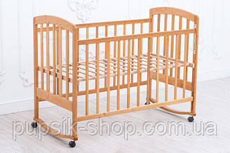 Детская кроватка Ласка-М «LAMA» Eco Style (без лака, шиповое соединение)