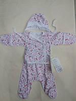 Детский набор в роддом тонкий ткань кулир размер 56