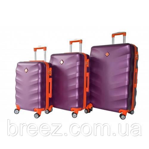 Чемодан Bonro Next набор 3 штуки темно-фиолетовый