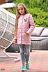 Куртка детская удлиненная на заплепках плащевка+синтепон 134,140,146,152, фото 6