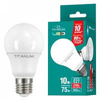 LED лампа TITANUM A60 10W E27 4100K 220V (ТL-A60-10274)