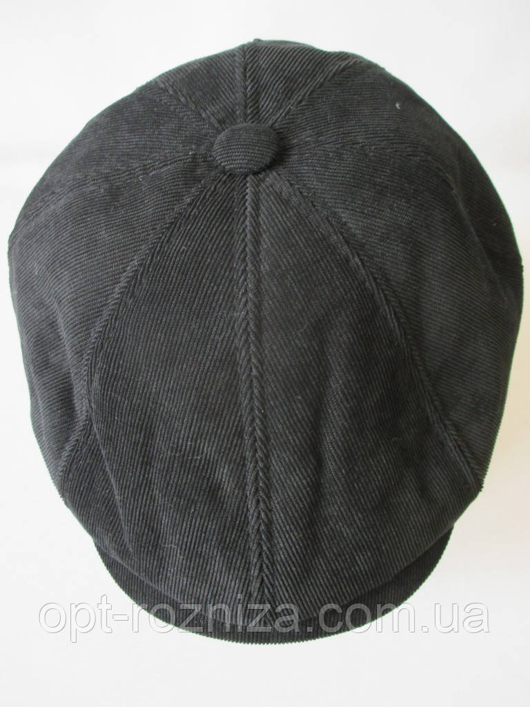 Вельветовая кепка восьмиклинка.