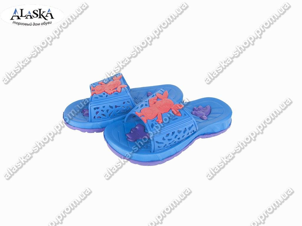 Детские шлепанцы (Код: ТПД-18 синий )