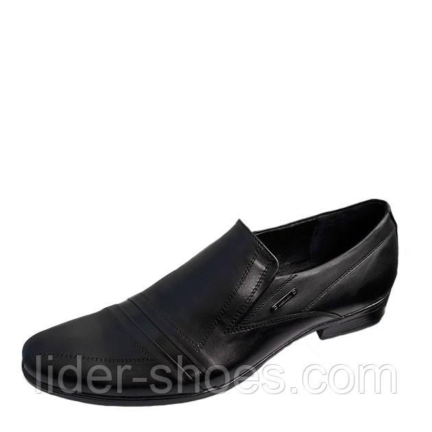 Мужские модельные туфли на резинке