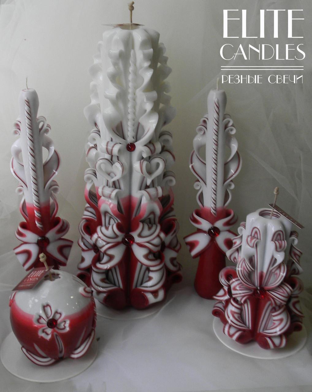 Большой набор свадебных свечей для семейного очага на церемонию
