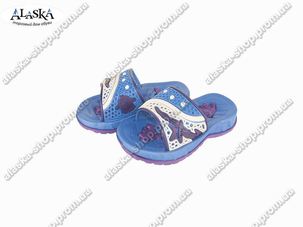 Детские шлепанцы (Код: ТПД-12 синий )