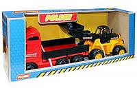 Набор игрушек Полесье Автомобиль бортовой и трактор-погрузчик  (36865)