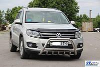 Volkswagen Tiguan Передний кенгурятник WT004 60мм