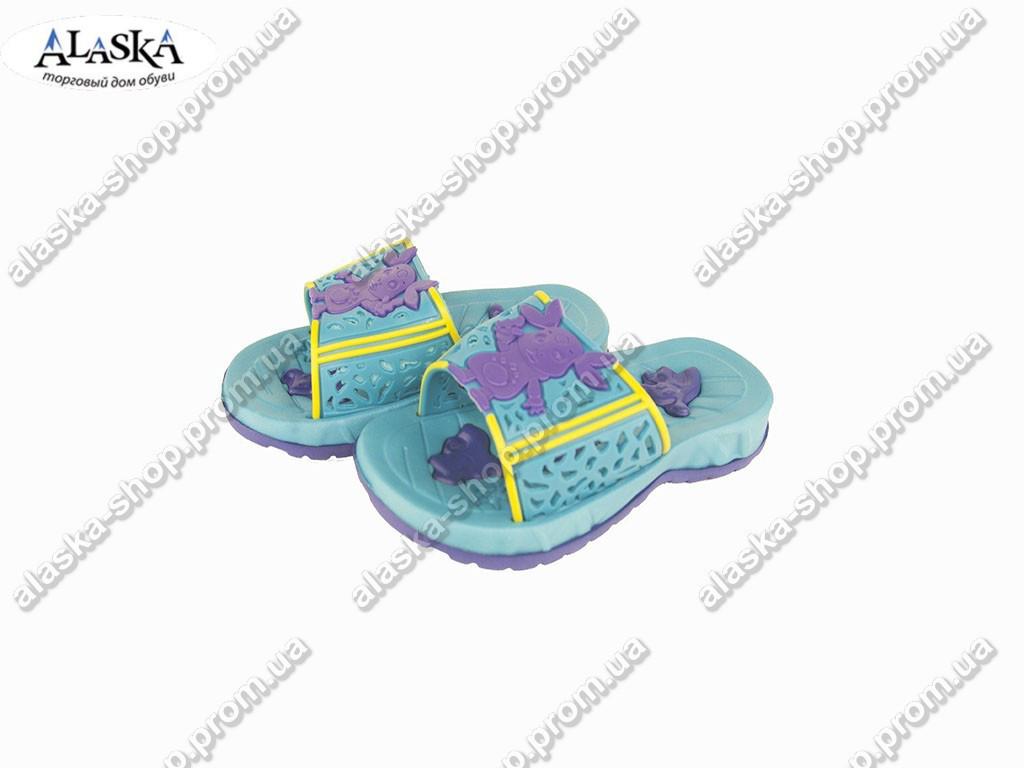 Детские шлепанцы (Код: ТПД-17 бирюза )