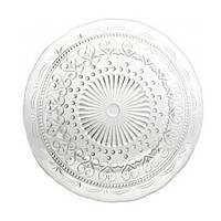 Тарелка обеденная прозрачная Италия Zafferano 28 см