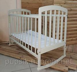 Детская кроватка Ласка-М «LAMA» Eco Style белая, ваниль (шиповое соединение)