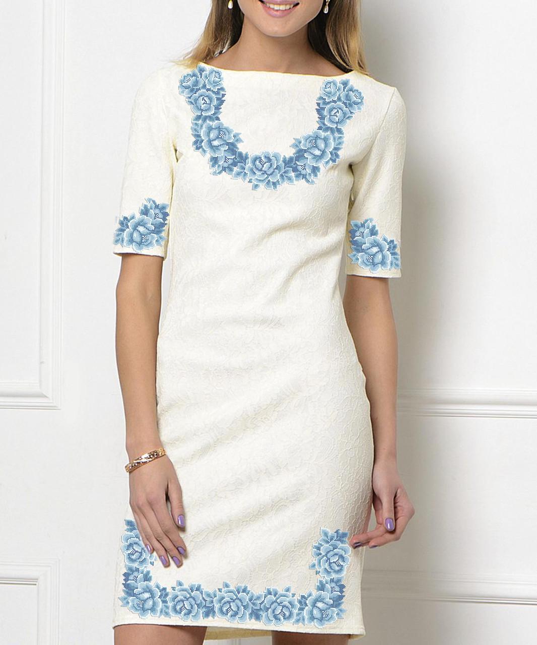 Заготовка жіночого плаття чи сукні для вишивки та вишивання бісером Бисерок  «Монохромна фантазія» (П-113  )