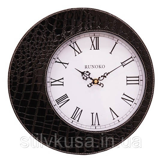 Шкіряні годинники чорні Runoko