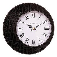 Кожаные часы черные Runoko