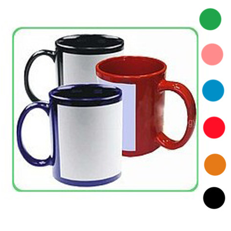 Цветная чашка с полем под фотографию