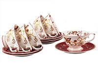 Чайный набор Lefard Красная рута 12 предметов 225 мл, 264-367