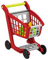 Тележка для супермаркета с продуктами питания Ecoiffier 13 аксессуаров (1225)