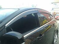 Ford Focus 2012 Ветровики Sunflex Chrome (есть для СД и для ХБ)