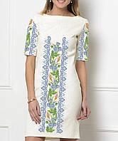 Заготовка жіночого плаття чи сукні для вишивки та вишивання бісером Бисерок  «Волошка в орнаменті» ca815b66e1427