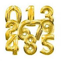 Шарик Цифра (80см) (золотые)