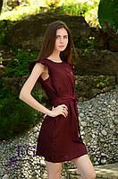 "Летнее платье ""Modest"" - распродажа модели бордо, 42-44"
