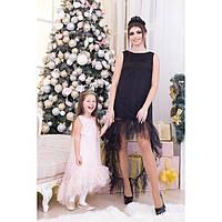 Комплект праздничных платьев для мамы и дочки №3053