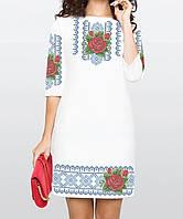 Заготовка жіночого плаття чи сукні для вишивки та вишивання бісером Бисерок  «Троянда в росі в 10c6417ef0ffb