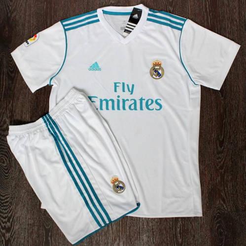 Футбольная форма детская Реал Мадрид белая сезон 2017-18