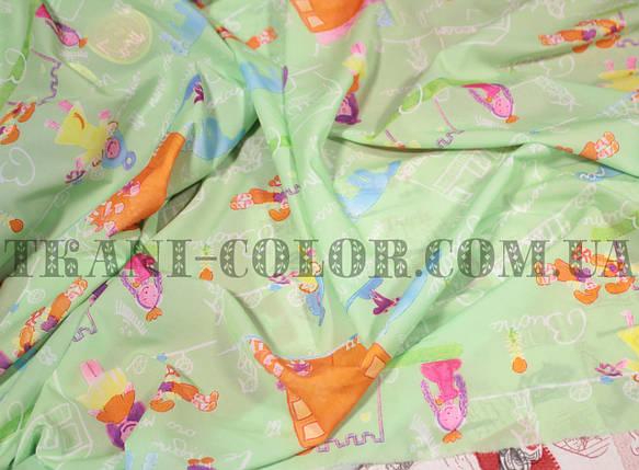 Ткань супер софт принт девочки, фото 2